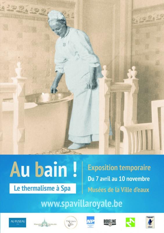 Spa - Exposition : Au bain ! Affiche expo