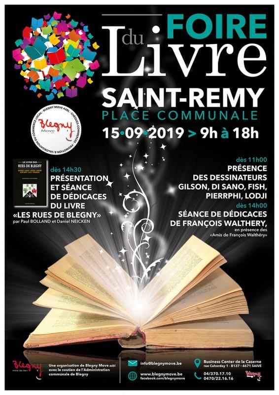 Affiche Foire du Livre de Saint-Remy