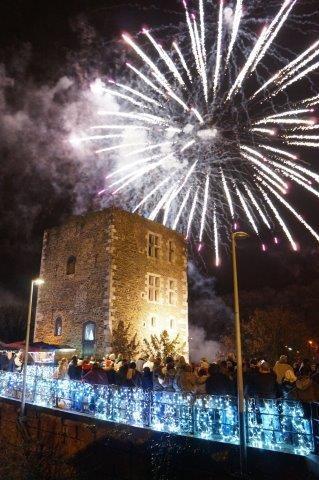 Noël au château - Oupeye - feu d'artifice