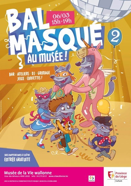 Liège - MVW - Bal masqué - Affiche 2019
