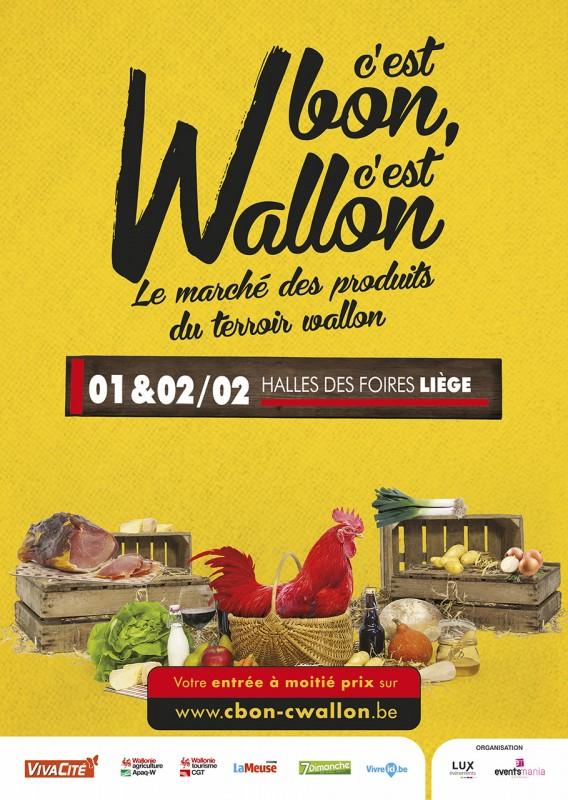 C'est Bon C'est Wallon - Liège - Affiche