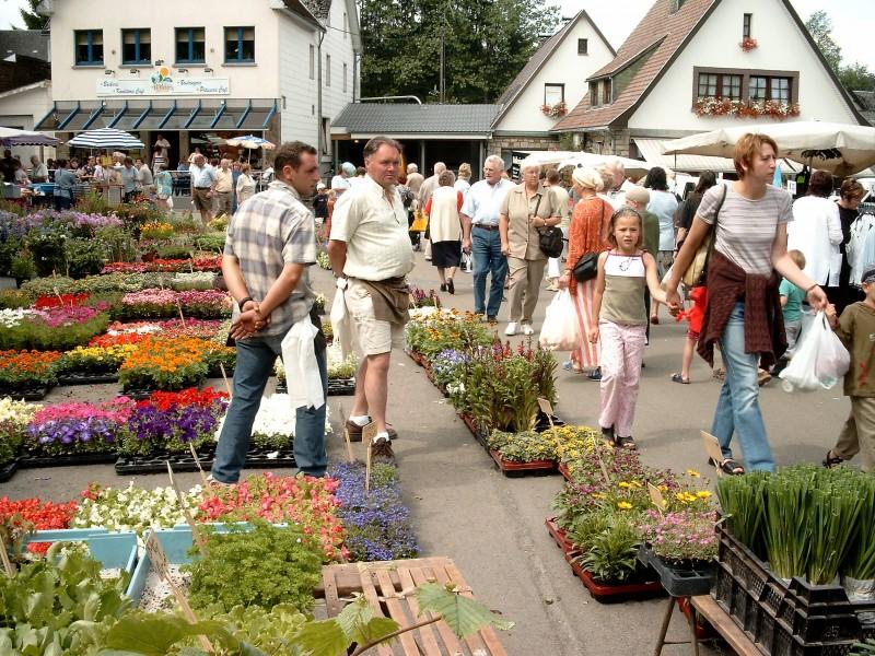 Butgenbach - Marché d'été - Marché aux fleurs