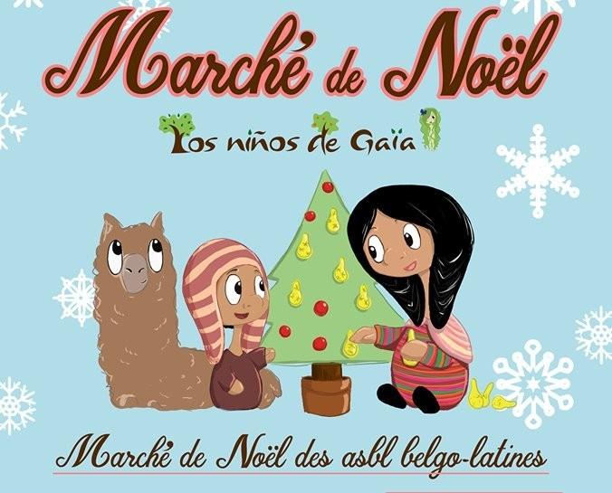 Marché de Noël Latino - Liège - Affiche