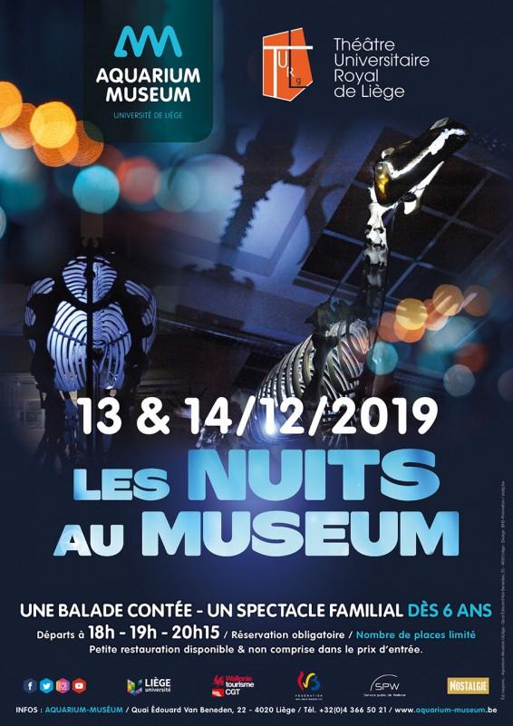 Nuits Aquarium-Museum - Liège - Affiche