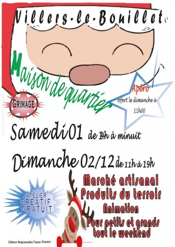 Marché de Noël - Villers-le-Bouillet - Affiche