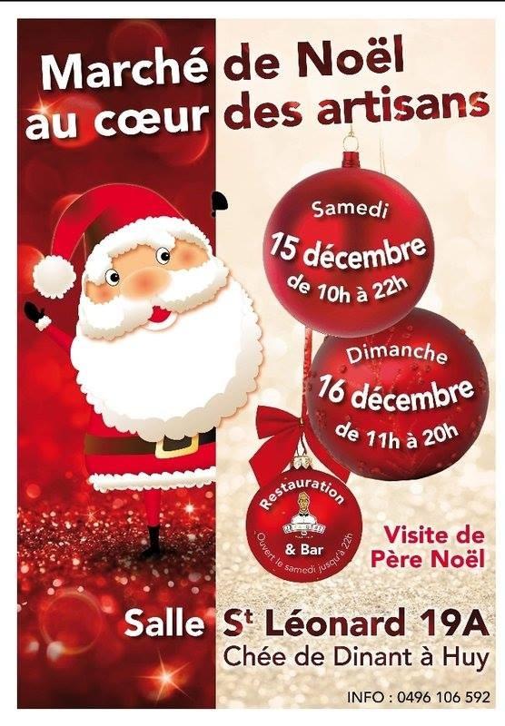 Marché Noë l-St-Leonard Huy - Affiche/Logo