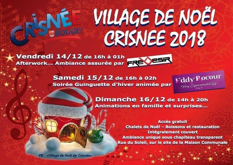 Village Noël - Crisnée - Logo/Affiche