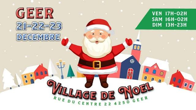 Village Noël - Geer - Affiche/Logo