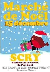 Marché Noël - Scry - Affiche/Logo