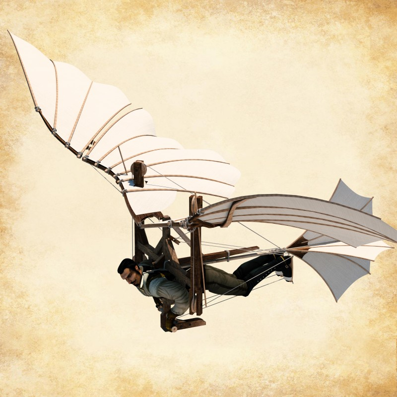 Liège - Exposition Da Vinci - Machine volante