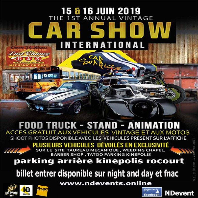 Rocourt - Car show Meeting international - Affiche 2019