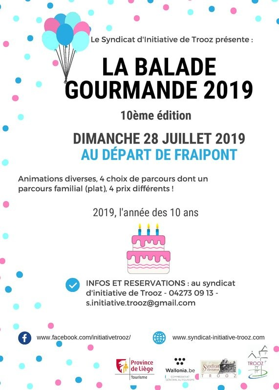 Fraipont - Balade gourmande - Affiche 2019