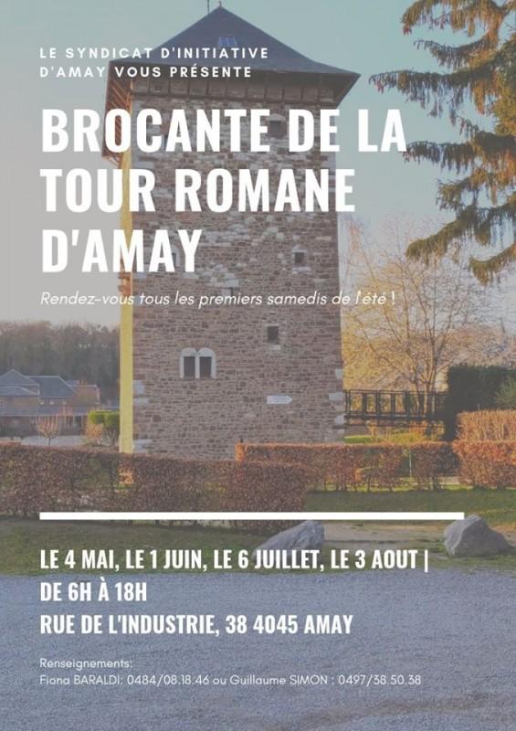 Brocante Tour Romane - Amay - Affiche