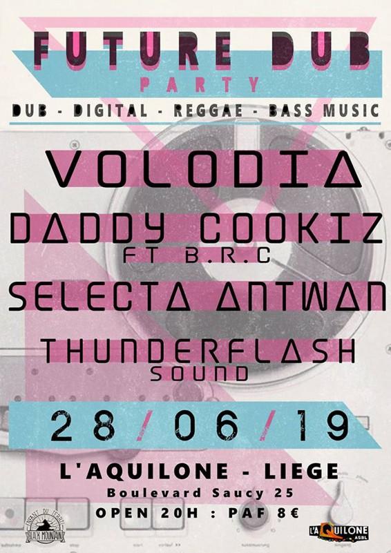 Liège - Concert Daddy Cookiz - Volodia - Selecta Antwan  - Affiche