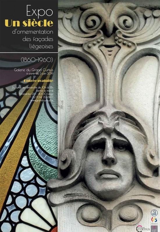 Liège - Grand Curtius - Affiche - Exposition : Un siècle d'ornementation des façades liégeoises 1860-1960
