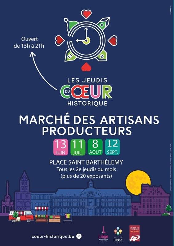 Liège - Marché des artisans et producteurs locaux - Affiche 2019