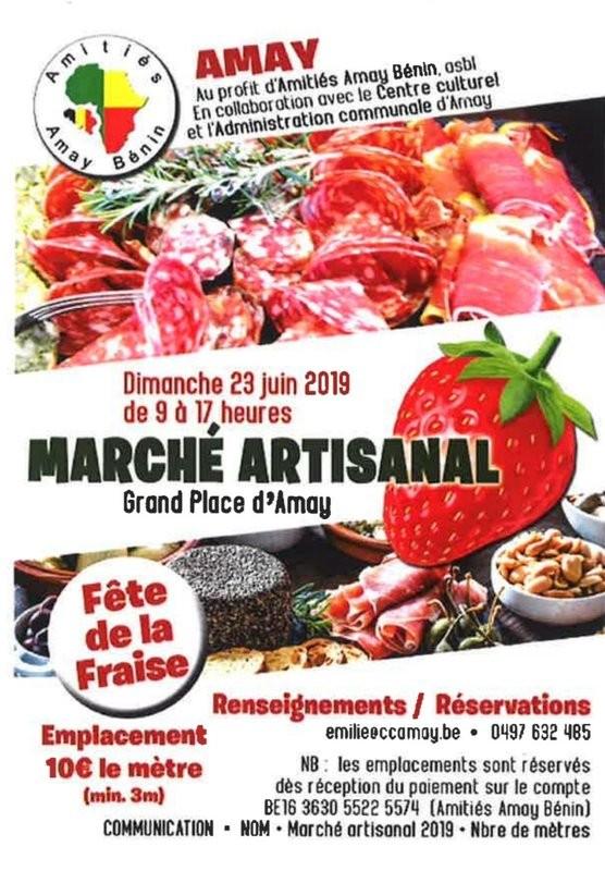 Amay - Fête de la Fraise - Affiche 2019