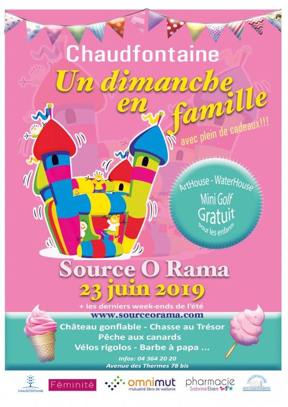 Chaudfontaine - Dimanche en famille - Affiche