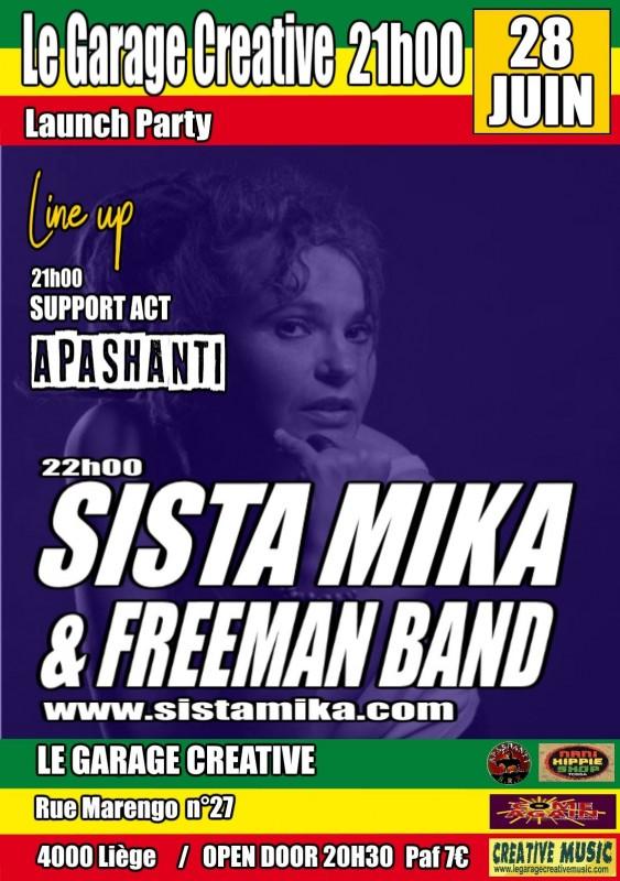 Concert Sista Mika - Liège - Garage Creative - affiche