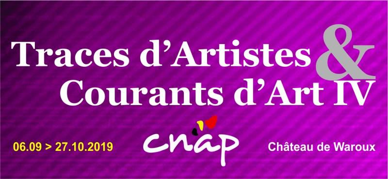 Alleur - Château de Waroux - Affiche Exposition Traces d'artistes et courants d'art