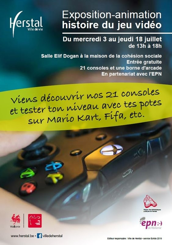 Herstal - Expo Retro Gaming - Affiche