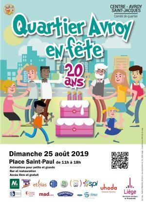 Liège - Avroy en Fête - Affihe 2019