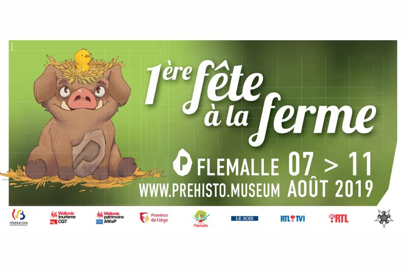Fête à la ferme - Flémalle - Affiche