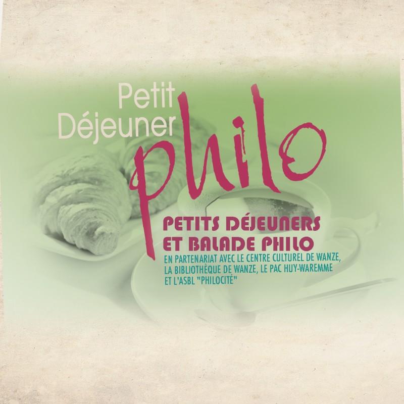 Petit-dejeuner-philo - Wanze - Affiche
