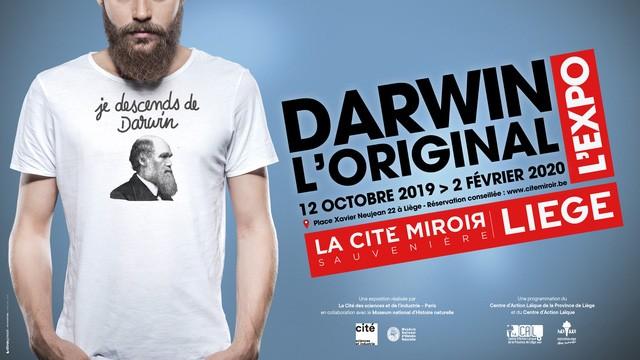 Liège - Cité Miroir - Affiche exposition Darwin, l'original