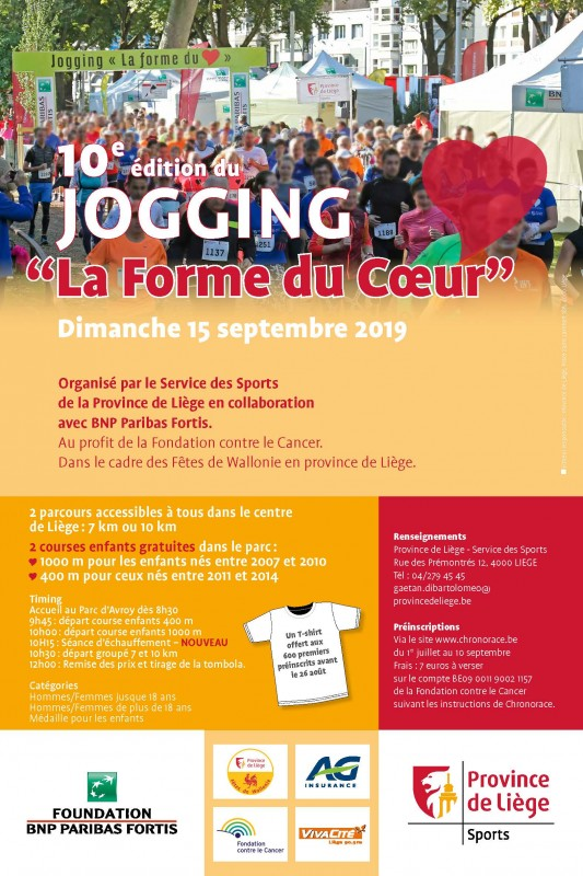 Liège - Jogging La Forme du Coeur - Affiche 2019
