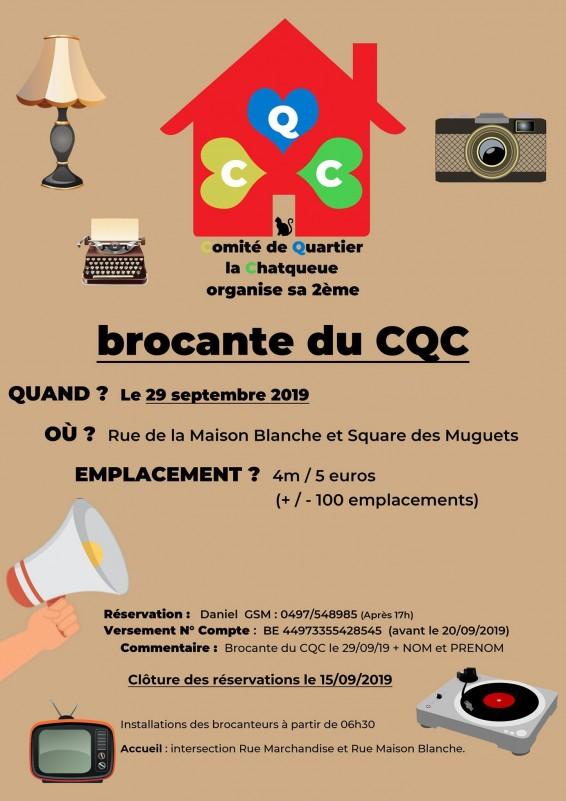 Brocante CQC - Seraing - Affiche