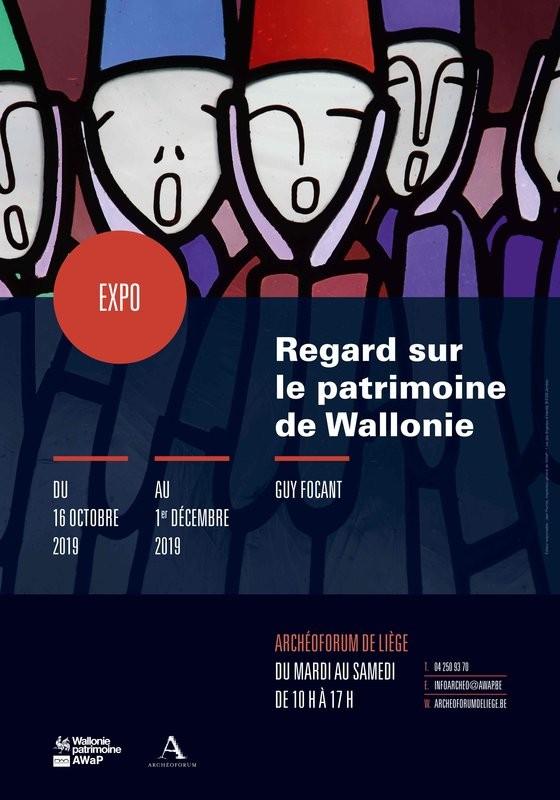 Exposition de photos de Guy Focant - Liège - Affiche Regard sur le patrimoine de Wallonie
