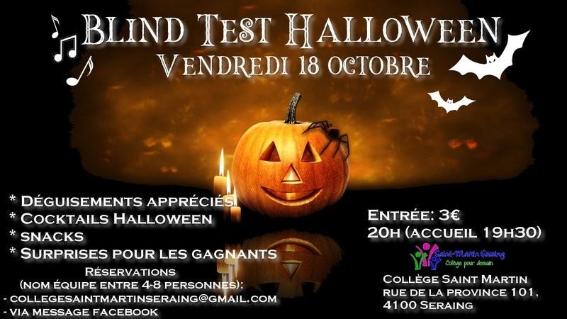 Blind Test Halloween - Seraing - Affiche