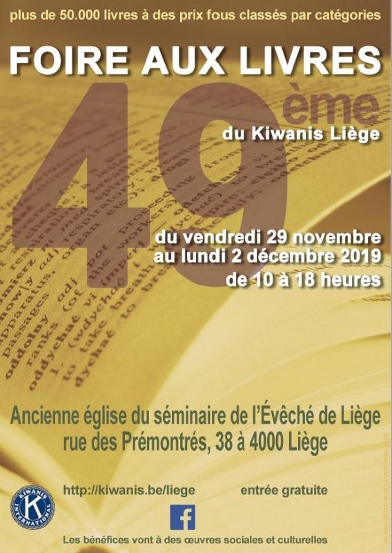 Foire aux livres - Liège - Affiche 2019