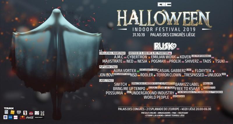 Chill2Chlill Halloween Indoor Festival - Liège - Affiche 2019