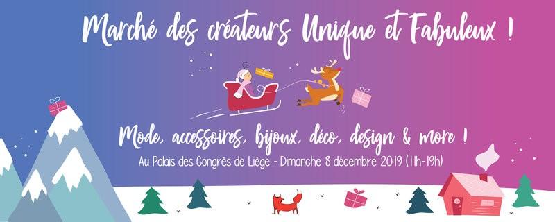 Le Marché des créateurs Unique et Fabuleux - Liège - Affiche 2019