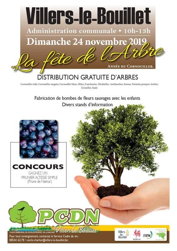 Fête de l'Arbre - Villers-le-Bouillet - Affiche 2019