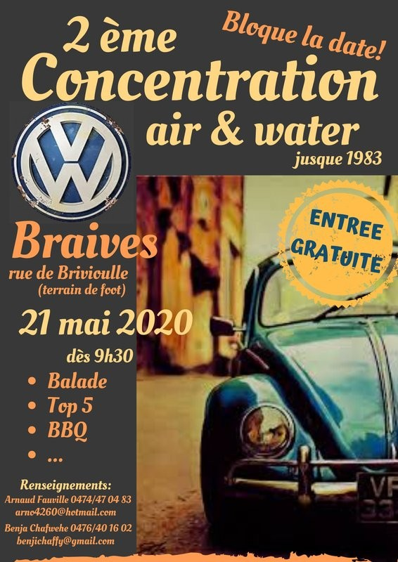 Concentration VW - Braives - Affiche 2020