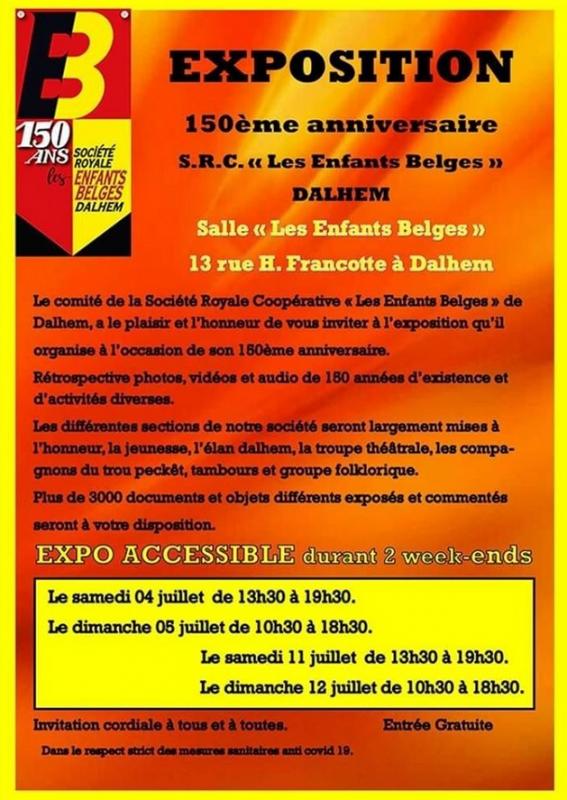 Exposition 150e anniversaire des Rouges de Dalhem