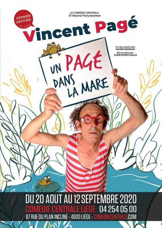 Vincent Pagé - Affiche Comédie Centrale Liège