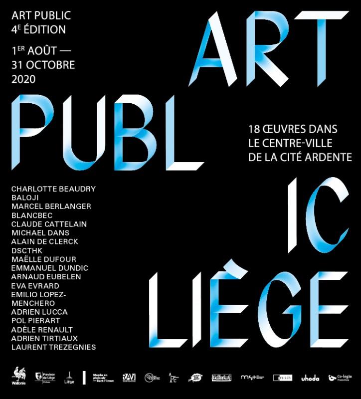 Art public Liège - affiche