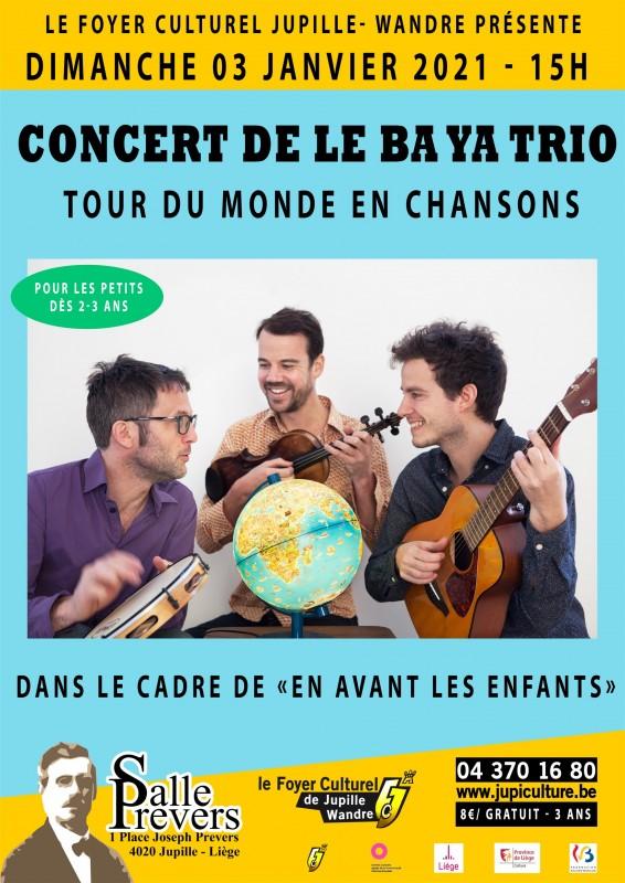 Concert Le Ba Ya Trio - Jupille - affiche