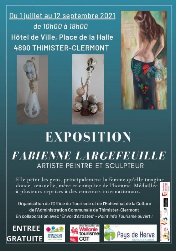 Expo des oeuvres de Fabienne Largefeuille ©Commune de Thimister-Clermont 06-2021