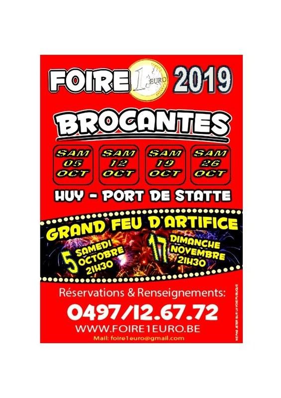 Huy - Foire à 1 € - Affiche 2019