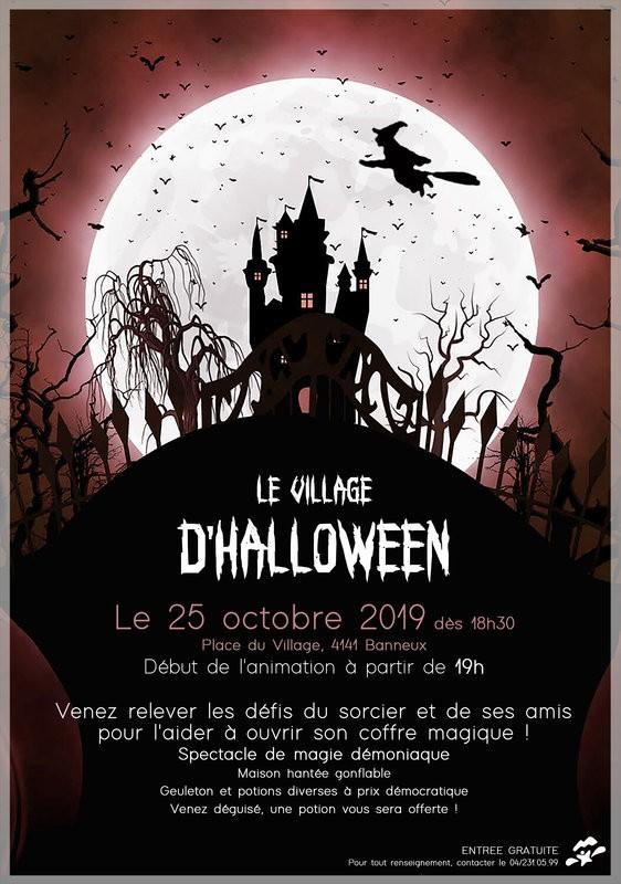 Village d'Halloween - Banneux - Affiche 2019