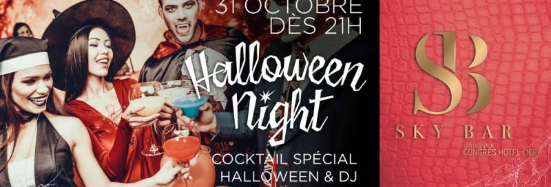 Halloween Night - Liège - Affiche