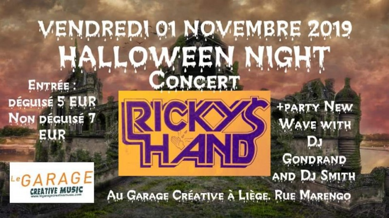 Halloween Night Concert - Liège - Affiche