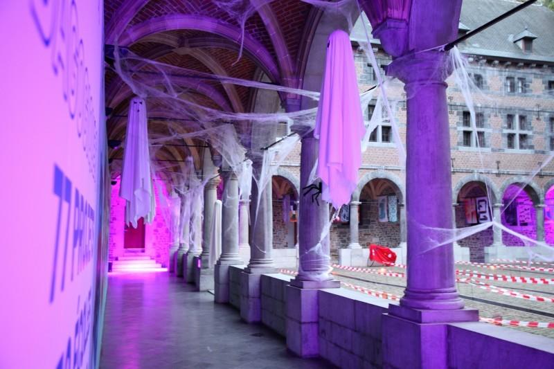 Halloween au Musée de la Vie wallonne - Liège - Décor Cour intérieure